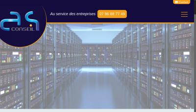 Capture d'écran du site de As Conseil