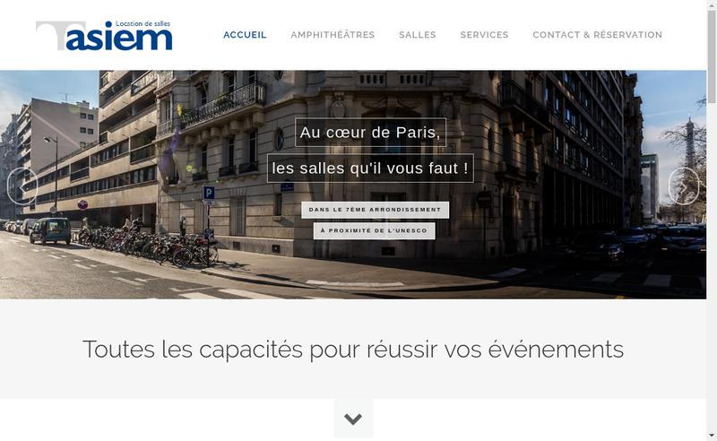 Capture d'écran du site de Asiem