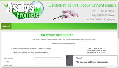 Site internet de Asilys Proprete