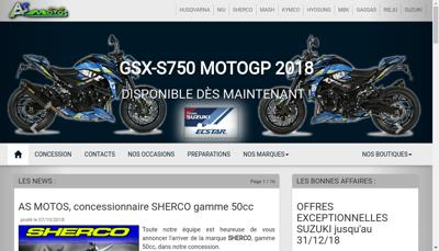 Capture d'écran du site de As Motos