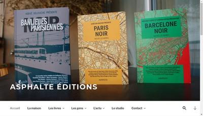 Site internet de Asphalte Editions