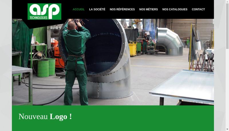 Capture d'écran du site de ASP Technologies