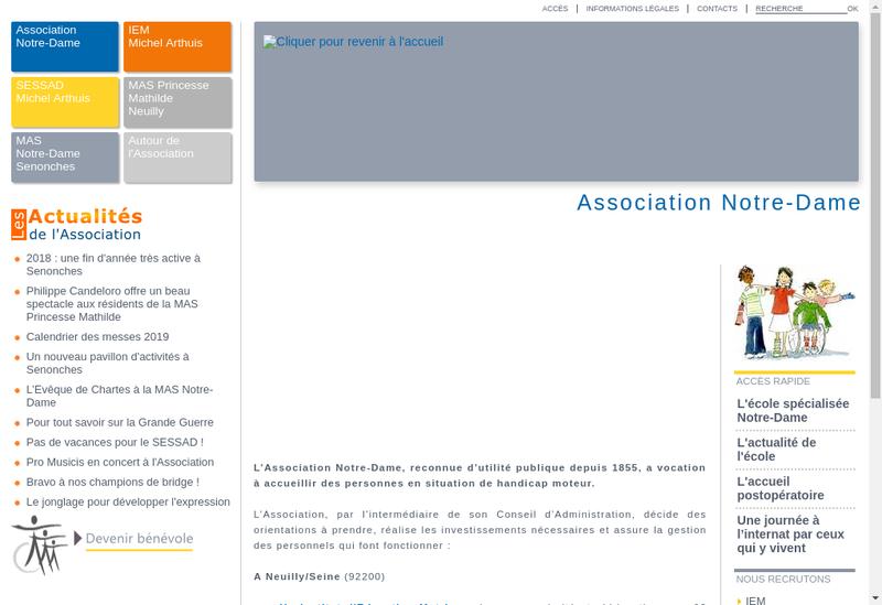 Capture d'écran du site de Mathilde Dastugue de Soreac de Buzon