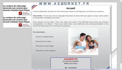 Site internet de Assurnet Fr