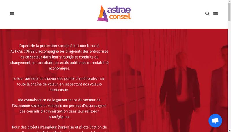 Capture d'écran du site de Astrae Conseil