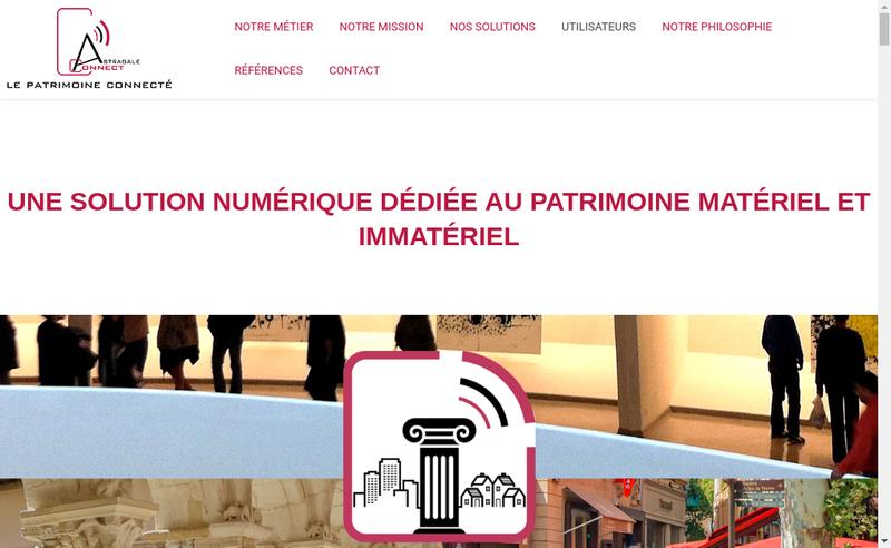 Capture d'écran du site de Astragale Connect