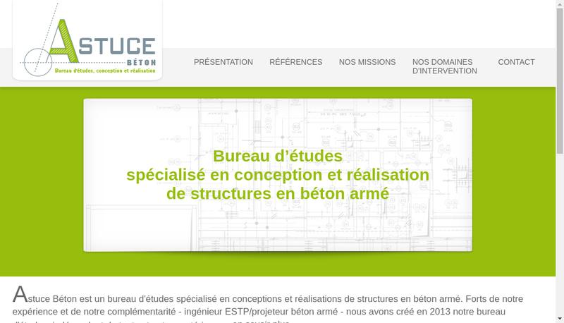 Capture d'écran du site de Astuce Beton