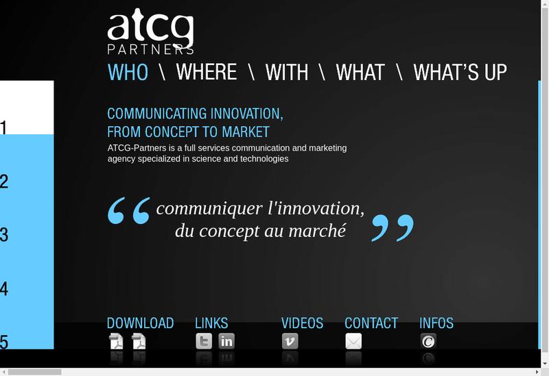 Capture d'écran du site de Atcg Partners