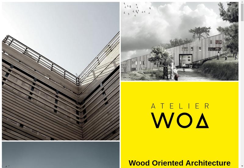 Capture d'écran du site de Atelier Woa