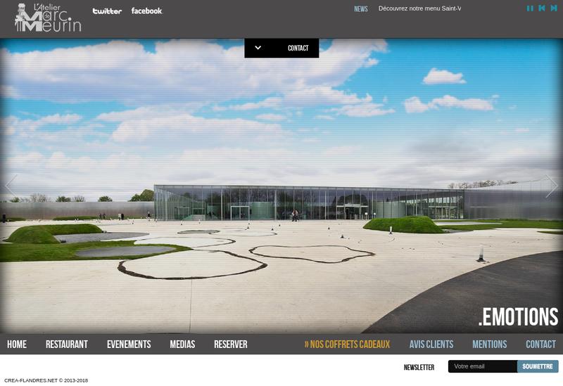 Capture d'écran du site de Le Meurin Lens