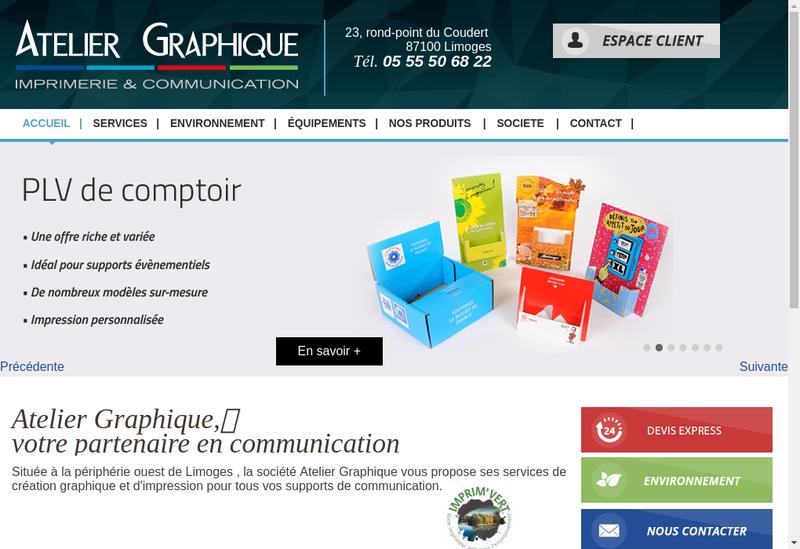 Capture d'écran du site de AGC