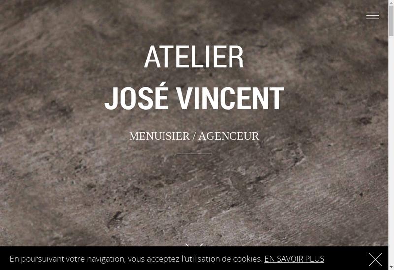 Capture d'écran du site de Atelier Jose Vincent