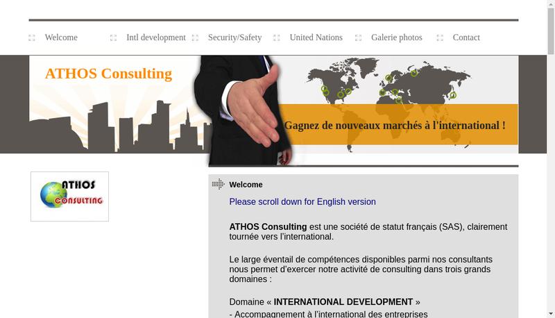 Capture d'écran du site de Athos Consulting