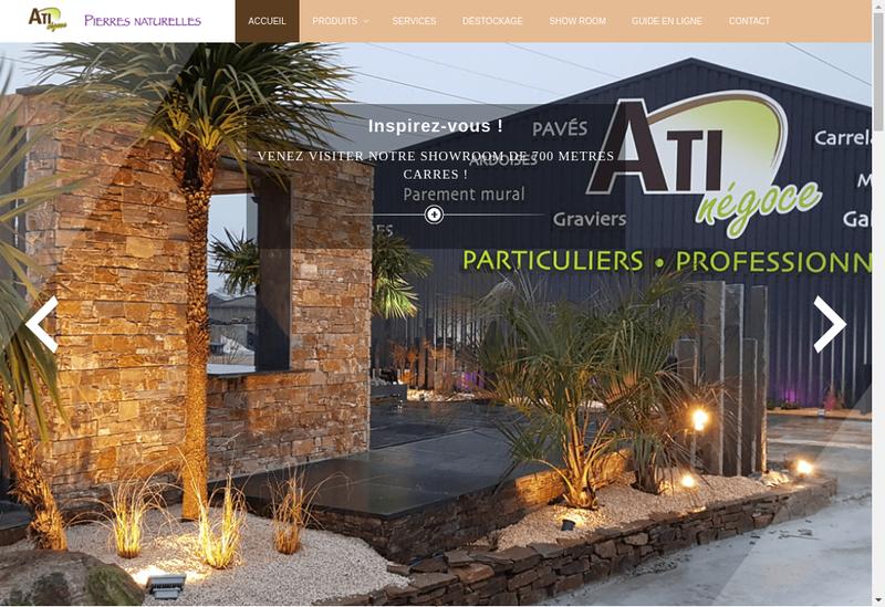 Capture d'écran du site de Ati Negoce
