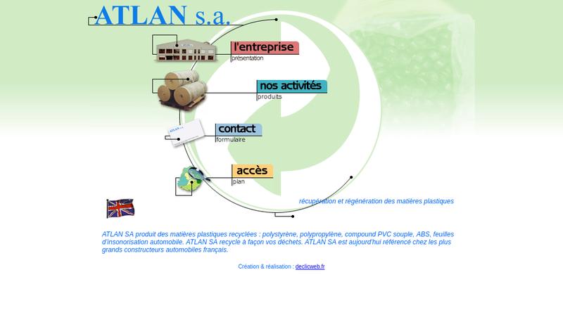 Capture d'écran du site de Atlan SA