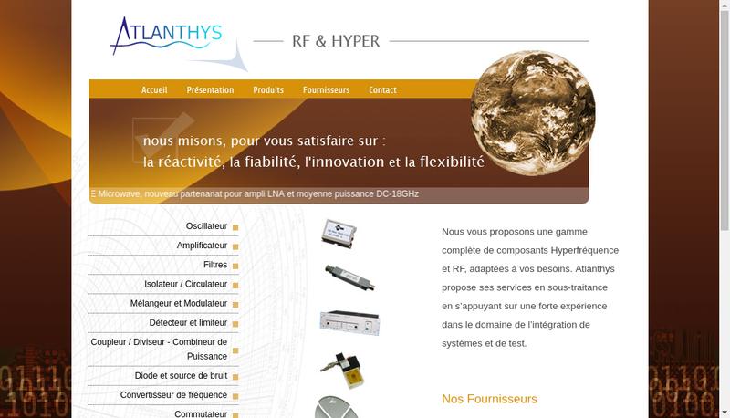 Capture d'écran du site de Atlanthys