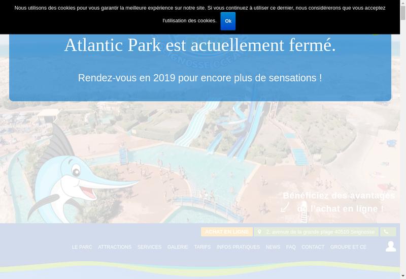 Capture d'écran du site de Atlantic Park