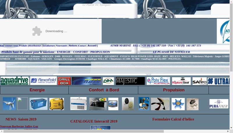 Capture d'écran du site de Atmb Marine - Freinet Marine