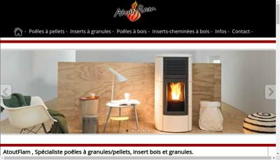 Capture d'écran du site de Atout Flam
