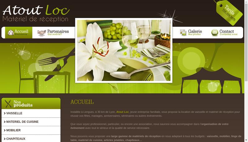 Capture d'écran du site de Atout Loc