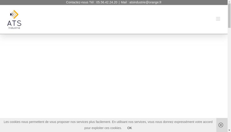 Capture d'écran du site de Ats Industrie