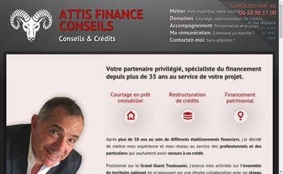 Site internet de Attis Finance Conseils