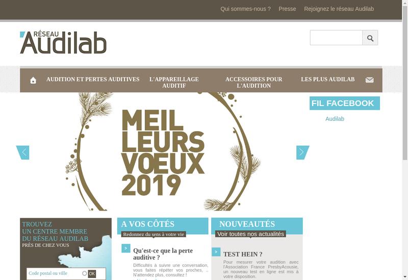Capture d'écran du site de Audilab