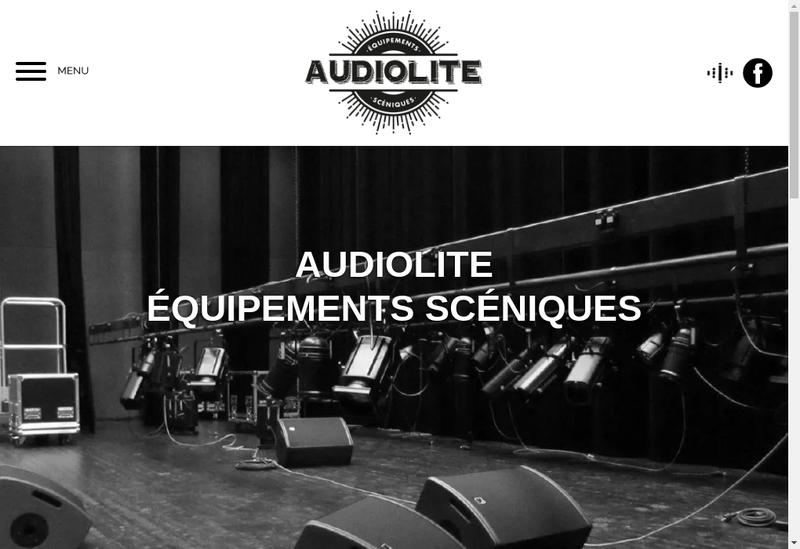 Capture d'écran du site de Audiolite Sonorisation