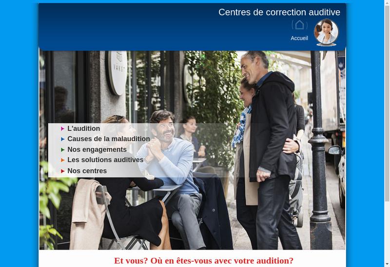 Capture d'écran du site de Audioprox