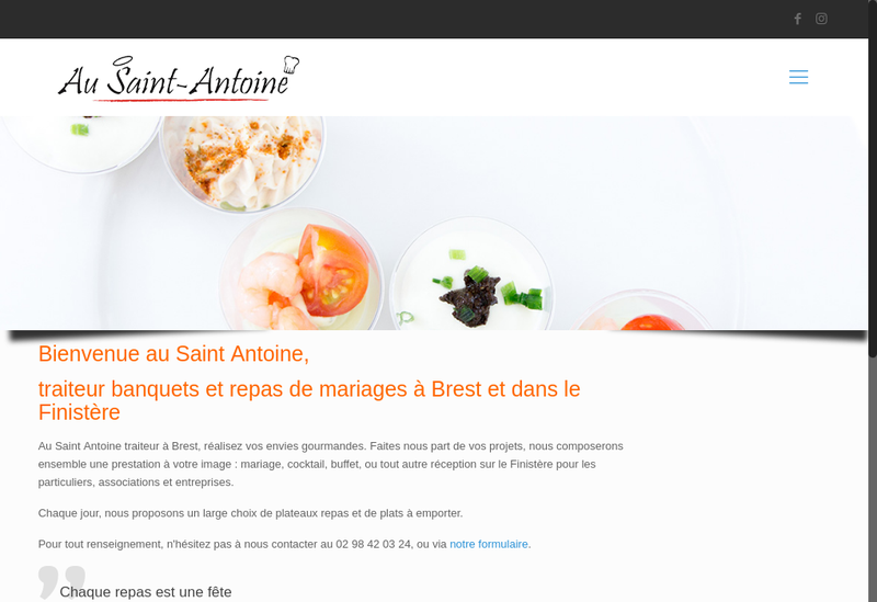 Capture d'écran du site de Au Saint Antoine