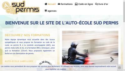 Site internet de Sud Permis