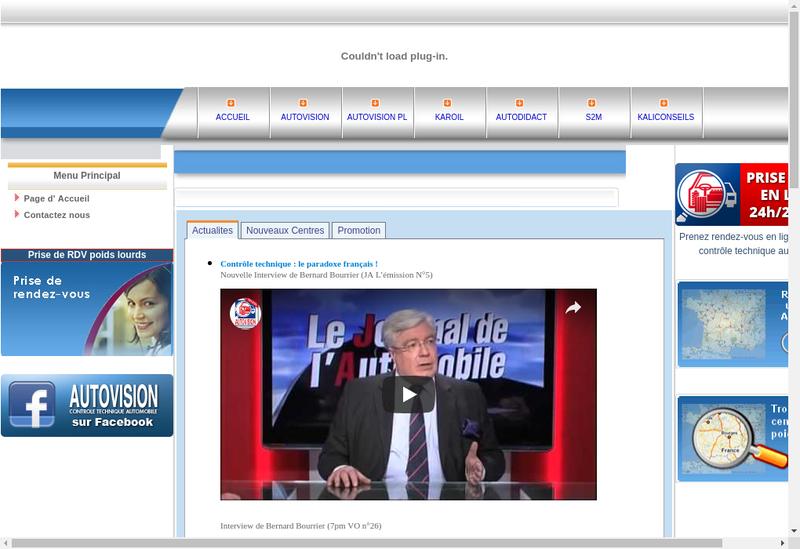 Capture d'écran du site de Vivauto Pl