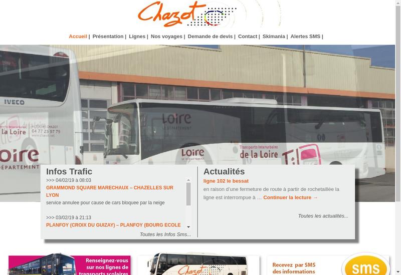 Capture d'écran du site de Autocars Chazot