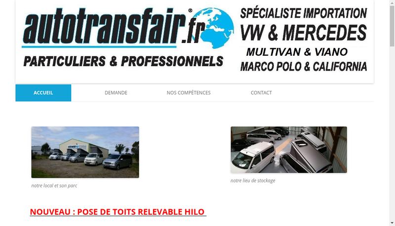 Capture d'écran du site de Autotransfair