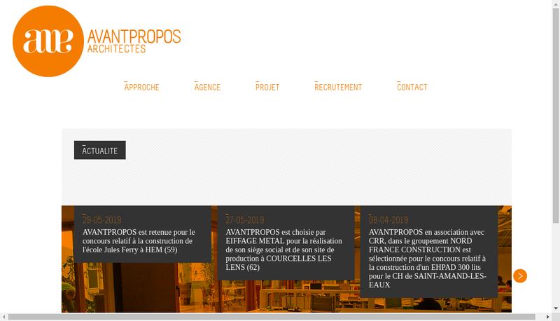 Capture d'écran du site de Avantpropos