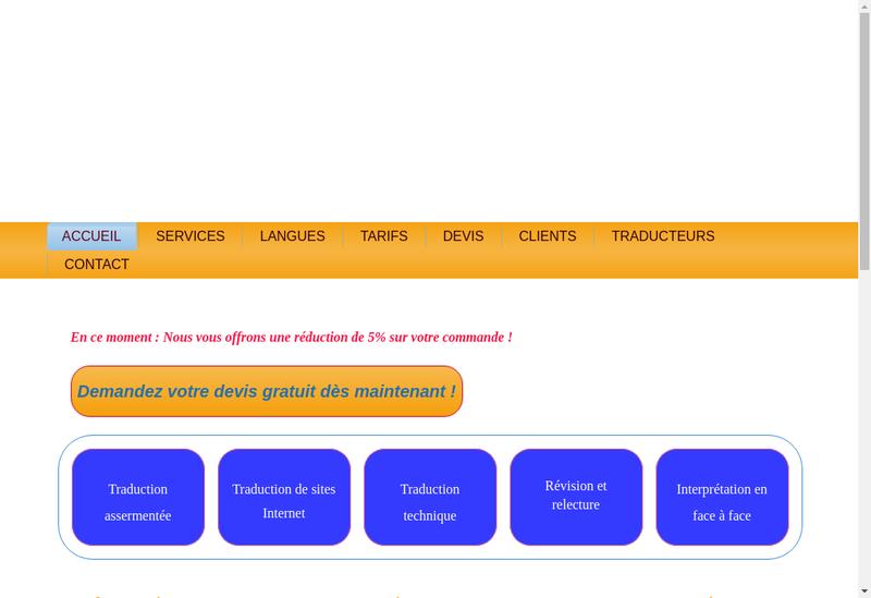 Capture d'écran du site de Avatex