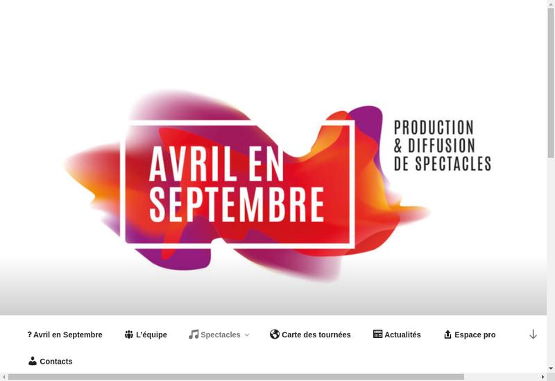 Capture d'écran du site de Avril en Septembre