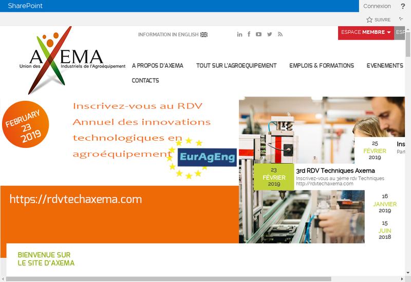 Capture d'écran du site de Axema Promotion et Services