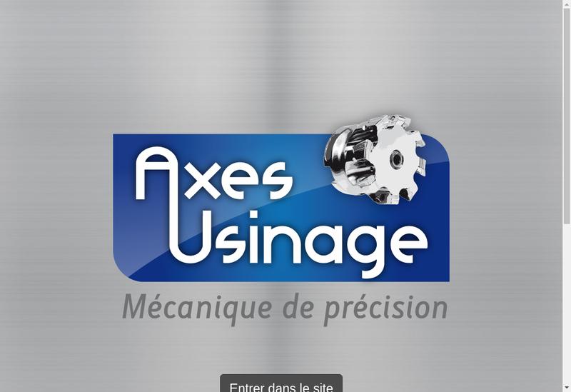 Capture d'écran du site de Axes Usinage