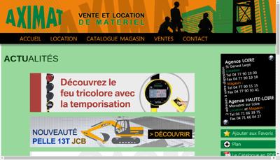 Capture d'écran du site de Aximat