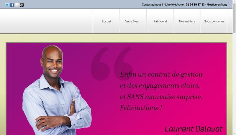 Capture d'écran du site de Aximonial