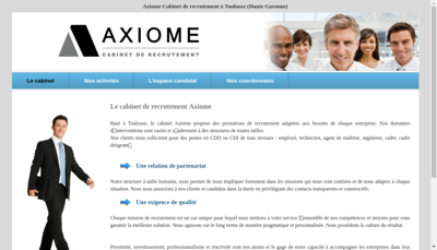 Capture d'écran du site de Axiome Recrutement
