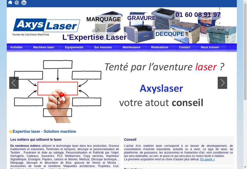 Capture d'écran du site de Axyslaser