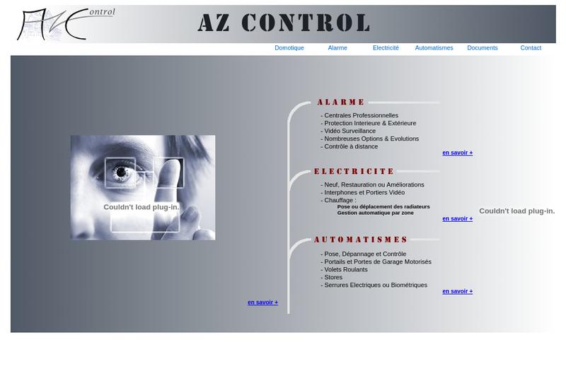 Capture d'écran du site de Az Control
