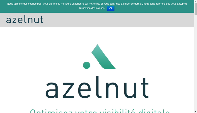 Capture d'écran du site de Azelnut