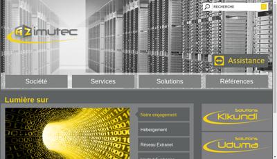 Capture d'écran du site de Azimutec