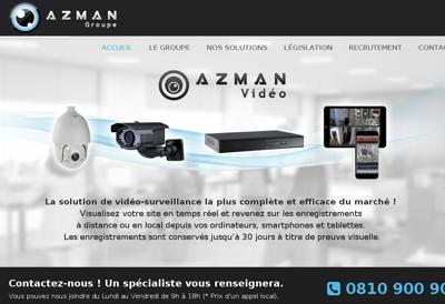 Capture d'écran du site de Azman Groupe