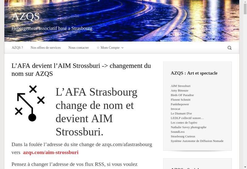Capture d'écran du site de L'Atelier Web