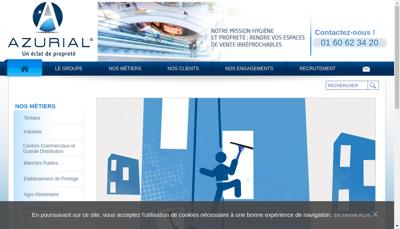 Capture d'écran du site de Azurial
