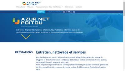 Site internet de Azur Net Poitou